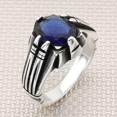 Spiked Design Wholesale Silver Men Ring