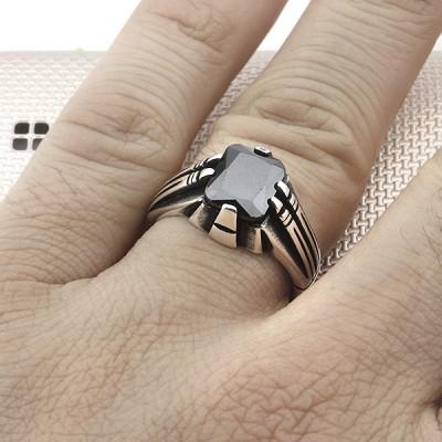 Anillo de plata para hombre con diseño de pinchos al por mayor
