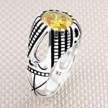 Drop Motif Wholesale Silver Men's Ring