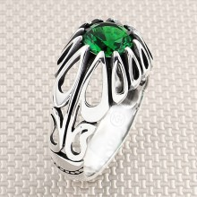 Drop Figured Wholesale Silver Men Ring