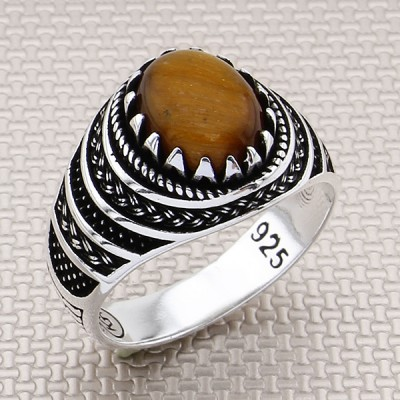 Braided Pattern Wholesale Silver Men's Ring