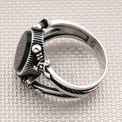 Sword Design Wholesale Silver Men Ring