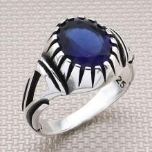 Triangle Motif Wholesale Silver Men's Ring