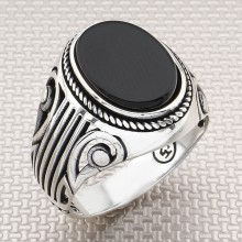 Authentic Pattern Wholesale Silver Men Ring