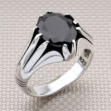 Pinstripe Wholesale Silver Men's Ring
