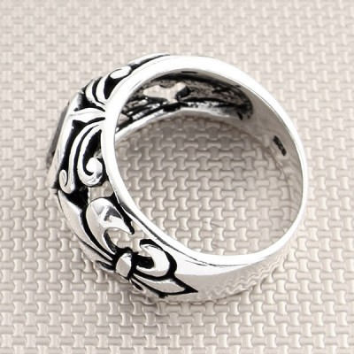 Baroque Design Wholesale Silver Men Ring