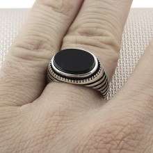 Cross Striped Wholesale Silver Men Ring