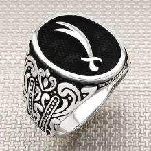 Zulfikar Sword Wholesale Silver Men Ring