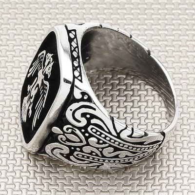 Eagle Wholesale Silver Men Ring