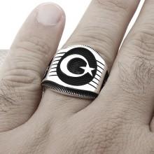 AyYıldız Wholesale Silver Men Ring