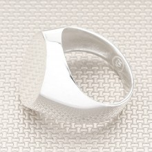 Simple Shiny Wholesale Silver Men Ring