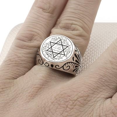 Star of David Wholesale Silver Men Ring
