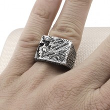 Gothic Design Wholesale Silver Men Ring