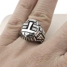 Cubic Design Wholesale Silver Men Ring