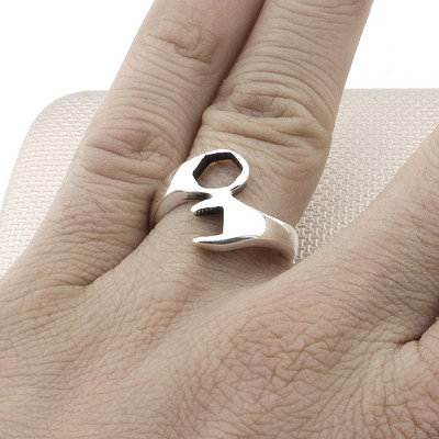 Wrench Wholesale Silver Men Ring