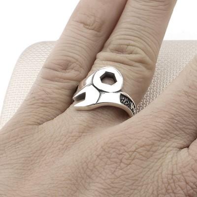 Repair Wrench Wholesale Silver Men Ring