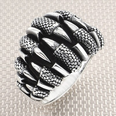 Eagle Claw Wholesale Silver Men Ring