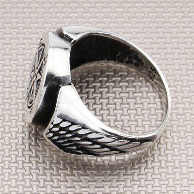 Winged Compass Wholesale Silver Men Ring