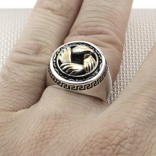Hands Wholesale Silver Men Ring