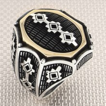 Wholesale Silver Men's Ring with Anatolian Motif