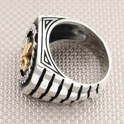 Baroque Patterned Wholesale Silver Men's Ring