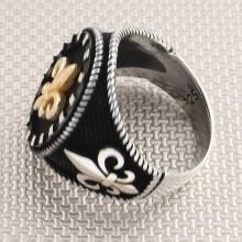 Baroque Figured Wholesale Silver Men's Ring
