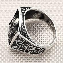 Warrior Wholesale Silver Men Ring