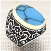 Authentic Striped Oval Stone Wholesale Silver Men's Ring