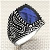 Far East Dragon Patterned Stone Wholesale Silver Men's Ring